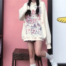 Oversized Hoodie Women Gothic Harajuku Kawaii Anime Printed Hoodies Jacket Women Spring Autumn sweetshirts E Girl Clothes