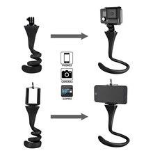 مصغرة كاميرا ترايبود جبل الموز قرنة ل Gopro شياو مي يي SJ4000 عمل كاميرا ل iphone7 6s سيارة المخده selfie عصا