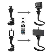 Mini Camera Tripod Mount Banana Pod for Gopro Xiao Mi Yi SJ4000 action camera for iphone7 6s car headrest selfie stick