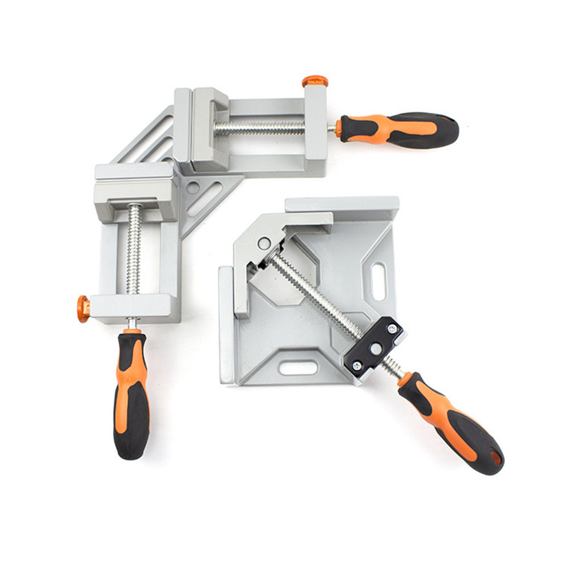 Double Handle Big Right Angle Clamp Single Hand Handle 90 Degree Multi-functional Clamp Wood Welding Fixator Block Right Angle P