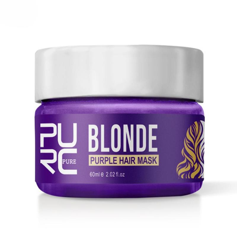 Purc Purple Hair Mask Repairs Frizzy Make Hair Soft Smooth Removes Yellow And Brassy Tones 60ml Magical Treatment Hair Mask 1