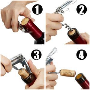 Image 5 - Laguiole 코르크 따개 와인 오프너 나이프 나무 손잡이 Sommelier 맥주 수 병 오프너 스테인레스 스틸 호일 커터 주방 용품