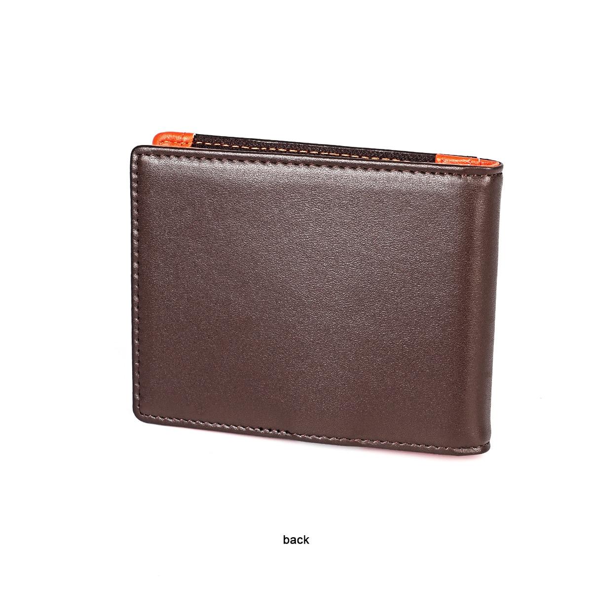 Us dollar carteira carteira masculina couro ultra-fino