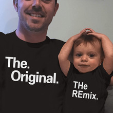 Outfits T-Shirt Family Matching Baby-Boy Bestfriend Bodysuit Kids And The Cotton Remix