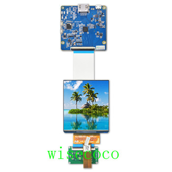 AMOLED дисплей 3,81 дюйма, двойной ЖК дисплей 1080*1200 oled с HDMI к MIPI приводной плате для набора DIY VR