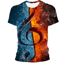 Music Funny Print T-Shirt Men's/women's Summer Music -Short-Sleeved Men's Casual Top T-Shirt 2021