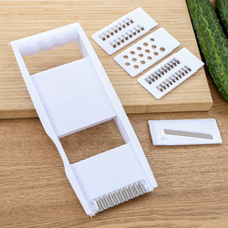 Slicer Vegetable Fruit Manual Grater Multifunctional Cutter Adjustable Kitchen Tool Stainless Steel Blade ABS Material