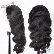Perruques de dentelle transparentes avant de lacet perruques de cheveux humains ARABELLA Remy cheveux pré-plumés brésilien vague de corps HD dentelle frontale perruque