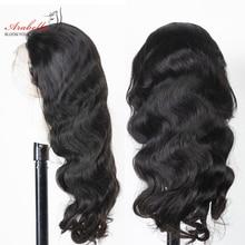 Transparent Lace Wigs Human-Hair Body-Wave ARABELLA Pre-Plucked Brazilian HD