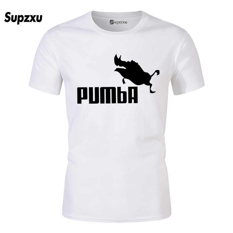 2019 여름 새로운 PUMBA 인쇄 T 셔츠 망 코튼 티셔츠 티 짧은 소매 고품질 소년 Tshirt 많은 색상과 크기를 꼭대기