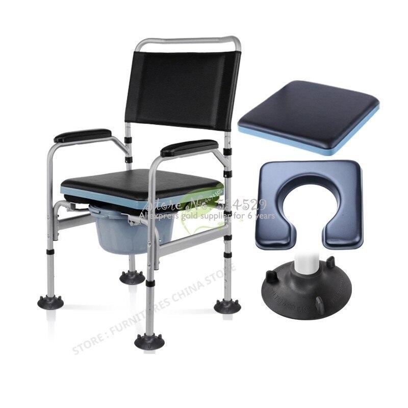38%Bathroom Chair Shower Chair Toilet Chair For Elderly Toilet Stool Walkers For Elderly Portable Toilet Chair Foldable Non-slip