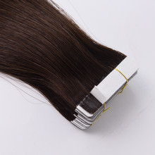 Kayla Remy Tape In Human Hair Extensions Double Drawn Adhesive Straight Hair Skin Weft 12