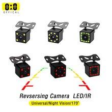 Telecamera retrovisiva per Auto 4 LED visione notturna retromarcia Monitor parcheggio automatico CCD impermeabile Video HD a 170 gradi