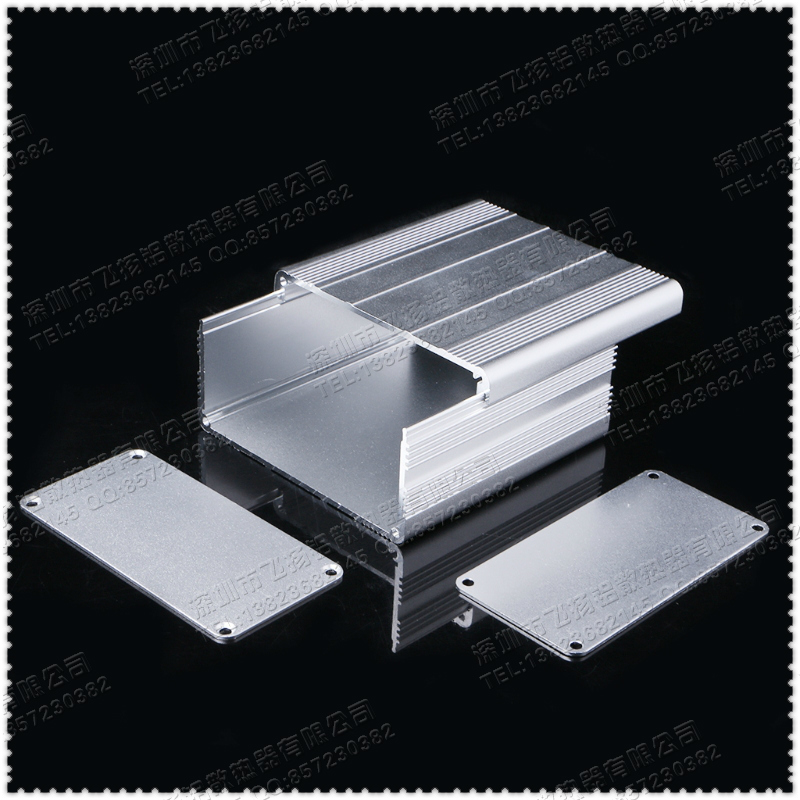 Image 2 - Free shipping 1 set of aluminum shell silver DIY electronic item 