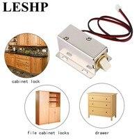 Leshp fechadura da porta elétrica com baixo consumo de energia estabilidade profissional pequena dc 12 v fechadura da porta aberta tipo quadro solenoide gota