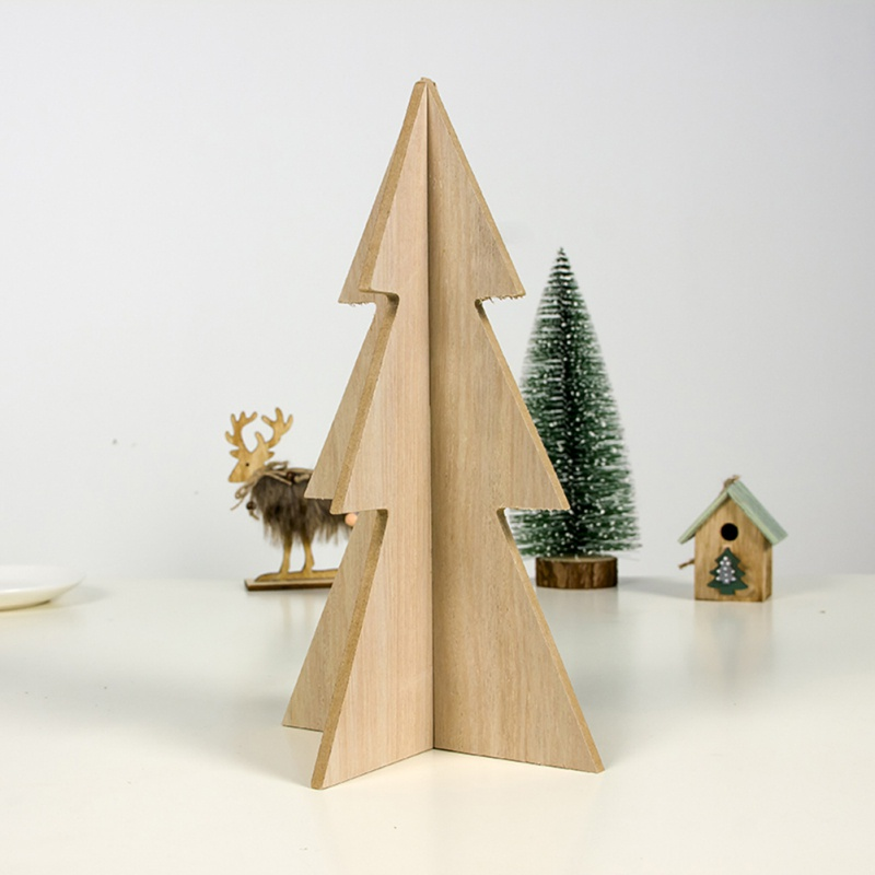 Christmas Simple Creative Household Decoration Wooden Christmas Tree Splicing Decoration