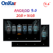 ONKAR 2019 New Android 7.1 9.0 Headrest Monitor 11.6 Inch  Bluetooth Headphone USB SD Card MP4 FM Radio HDMI 2GB 16GB