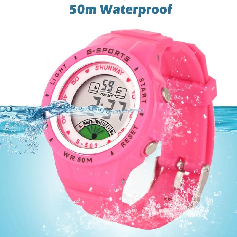 UTHAI CE02 Kids Children's Watch Electronic Quartz WristWatch for Boy Girl 50m Waterproof Student Sports Watches Colorful reloj