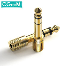 QGeeM Jack 6.5 6.35mm Male Plug to 3.5mm Female Connector Headphone Amplifier Audio Adapter Microphone AUX 6.3 3.5 mm Converter