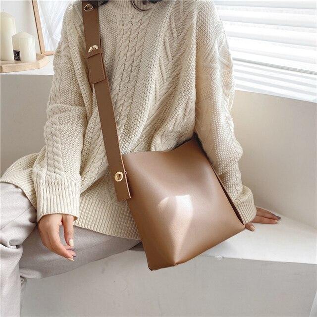 Сумка мешок через плечо burminsa Большая вместительная сумка