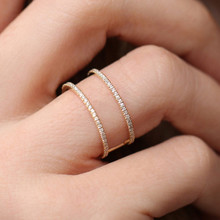 Modyle 2020 New Fashion Women Ring Finger Jewelry Gold Color AAA Cubic Zirconia Rhinestone Crystal Wedding Rings for Woman newest viennois fashion jewelry gun color geometric finger rings for woman rhinestone and crystal party accessories