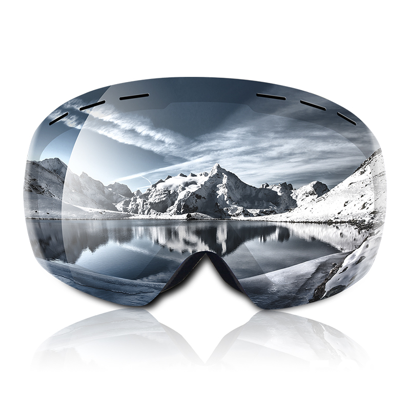 Ski goggles UV400 spherical double layers anti-fog Protection keep warm big lenses glasses men women snowboard goggles skating