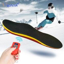 Soporte de arco de batería de 2000mAh plantillas calentadas eléctricamente con pantalla LED Control remoto de temperatura para esquí caza ciclismo