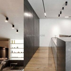 Image 4 - 1 adet LED sıva üstü Downlight spot 12W siyah beyaz dönebilen 3000K 4000K 6000K ev lambası ayarlanabilir tavan Spot ışığı