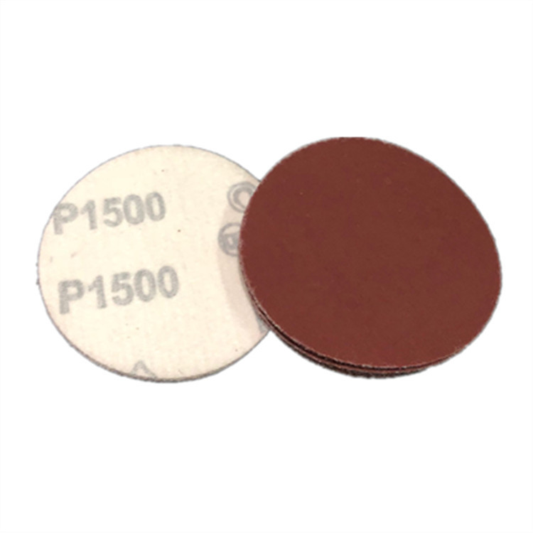 Cross Border Sandpaper Red Sand 4-Inch Self-Adhesive Sandpaper Bei Rong Round Plates Dry Grinding Sandpaper 1500 # Round Sandpap