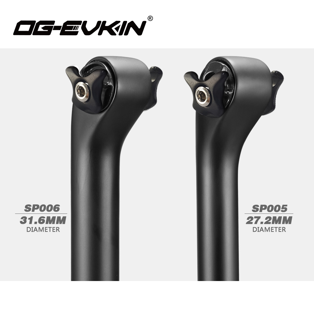OG-EVKIN SP005/SP006 Top Carbon Seatpost 27.2mm/31.6mm Road Bike Seat Tube Bicycle Parts long 350mm/400mm