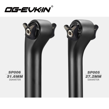 OG-EVKIN Bicycle Carbon Fiber Seatpost Road MTB Bike UD Matt 27.2mm//31.6mm 400mm