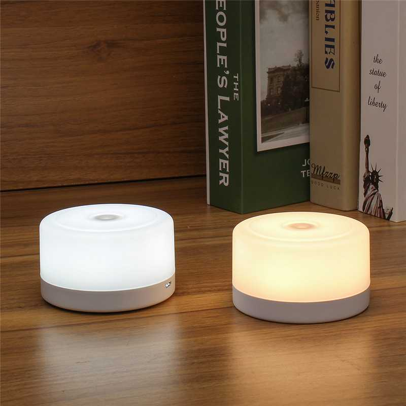 USB Rechargeable LED Magnet Bedside Lamp Touch Stepless Dimmable Magnet Night Light For Home Bedroom Corridor Wall Lantern