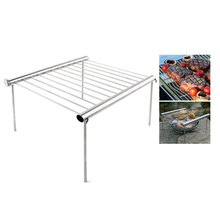 лучшая цена Outdoor Stainless Steel Barbecue Bracket Camping Bbq Multi-Tools Picnic Folding Barbecue Bracket Portable Stove Bbq Barbecue She