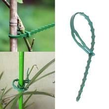 Grüne Kabel Flexible Krawatte Gebunden Baum Reben Klettern Ausrüstung Kunststoff Befestigung Schnalle Wiederverwendbare Verrottungsfest Selbst Locking Gartengeräte