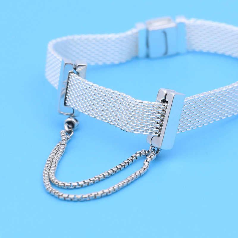 100% 925 Sterling Silber Zeitlosen Funkelnden Clip Charms, fit Original Pandora Reflexions Armband, Geschenk für DIY Schmuck Perlen
