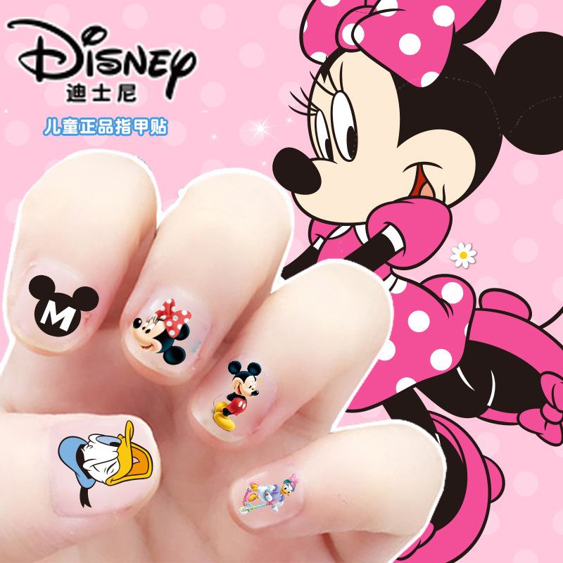 Disney Princess Frozen Elsa Anna Makeup Toy Nail Stickers Disney Snow White Princess Sofia Mickey Minnie Kids Sticker Baby Gift