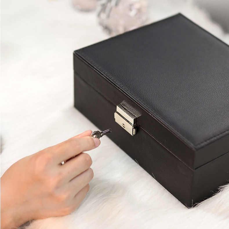 מעודן תכשיטי תיבת נשים עור אריזה שרשרת טבעות עגילי צמיד אחסון ארגונית תצוגת קופסות מתנת מקרה