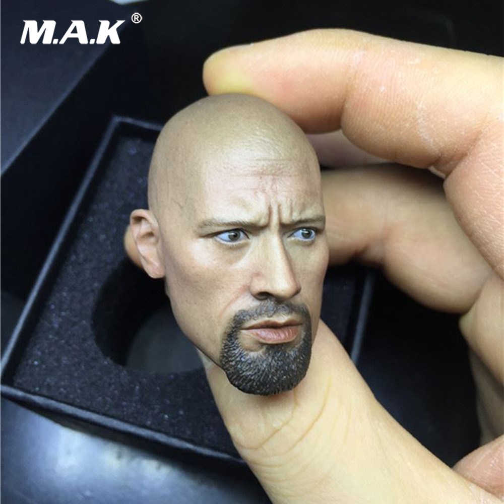 """1//6 Scale Dwayne Johnson Head Sculpt DIY Unpainted For 12/"""" Male Bodies Figure"""