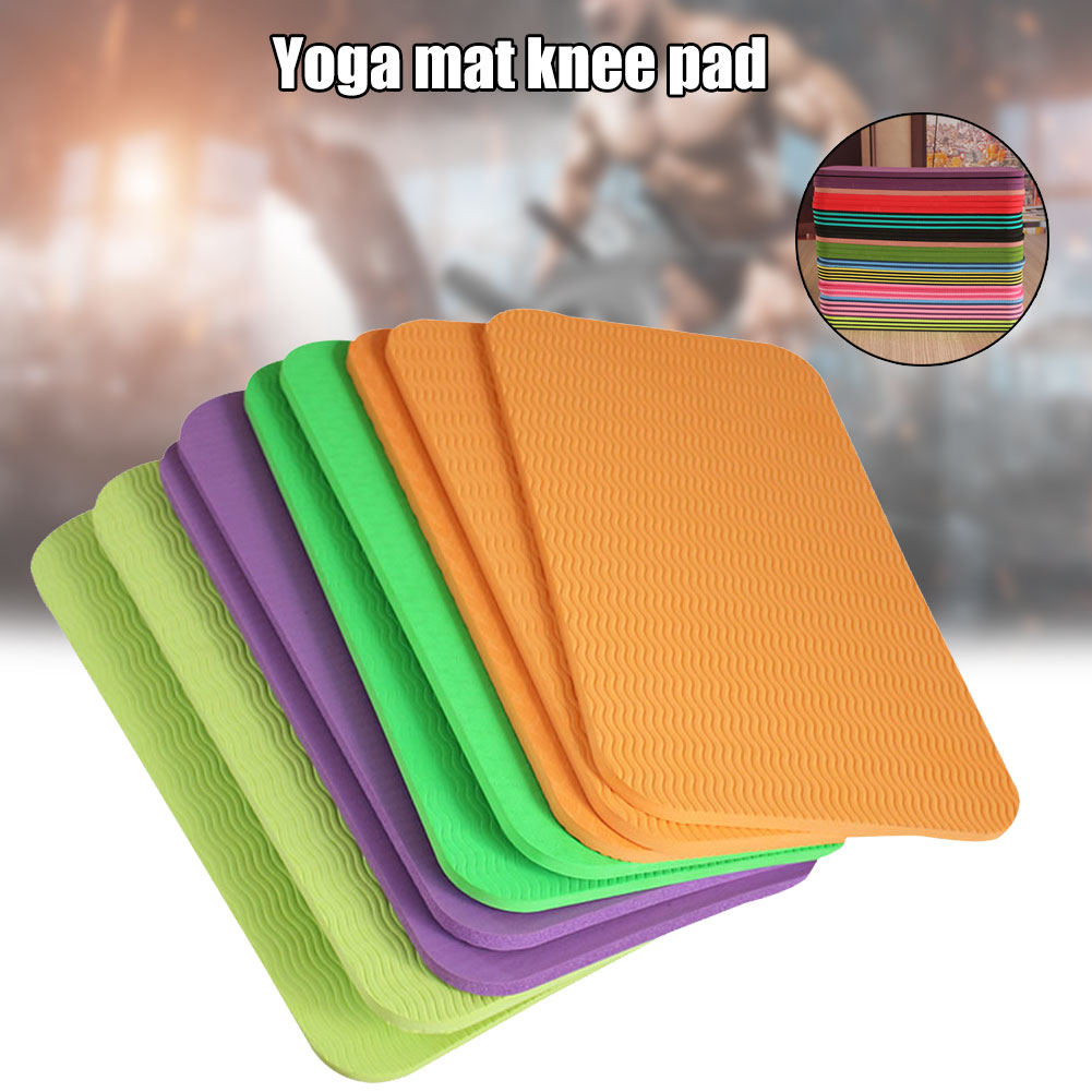 Yoga Mat Knee Pad Elbow Cushion 6mm Fits Standard Mats For Pain Free Joints In Yoga Pilates Floor Workouts  Yoga Knee Pad