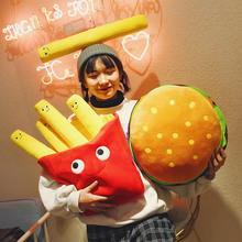 Candice guo плюшевая игрушка в форме гамбургера, картошки фри фаст-фуд стиль картофельные чипсы Подушка детский подарок на день рождения Рождественский подарок 1 шт
