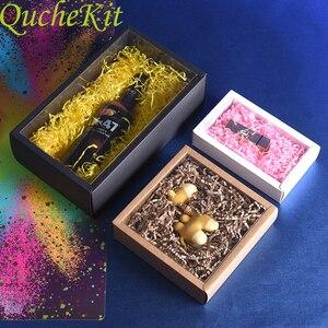 10 шт., складная коробка из крафт-бумаги с прозрачным ПВХ окном, черная упаковка, Подарочная коробка для свадьбы, дня рождения, конфет, печенья...