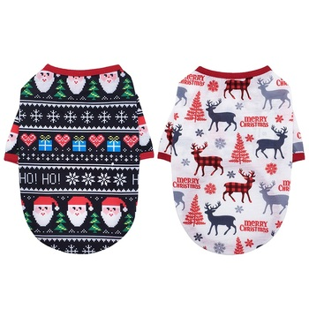 XS-XL Waterproof Pet Dog Puppy Vest Jacket Christmas Clothing Warm Winter Dog Clothes Coat For Small Medium Large Dogs 16 Colors image