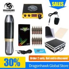 Professional Tattoo Pen Kit Rotary Machine Set With LCD Mini Power Tattoo Pedal Switch Supply