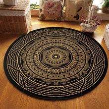 Retro Area Rugs Round Geometric Carpet Living Room Doormat Floral Carpets Door Floor Mat for Prayer Bedroom Carpet Anti slip Rug