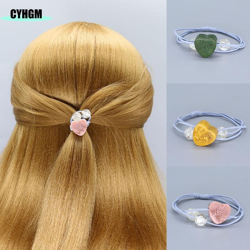 Women Elastic Hair Bands Hair Ties Velvet Satin Scrunchie Pack Hair Accessoires Pour Meche Cheveux A Tresser Girls F04-1