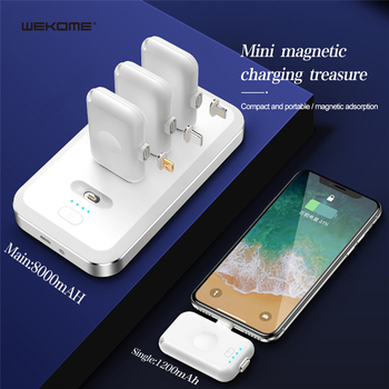 Mini Magnetic Power Bank For iPhone Micro USB Type C 1200mAh Magnet Charger iPad Xiaomi Huawei Phone