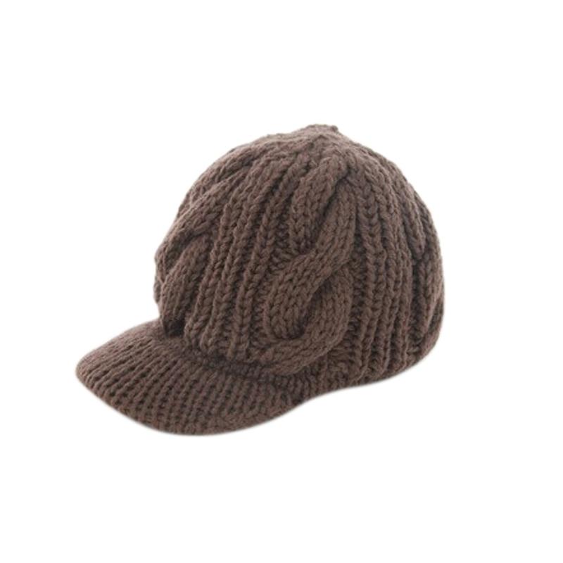 Newly Fashion Women Peaked Cap Hat Winter Warm Caps Knitted Headwear Outdoor Hats