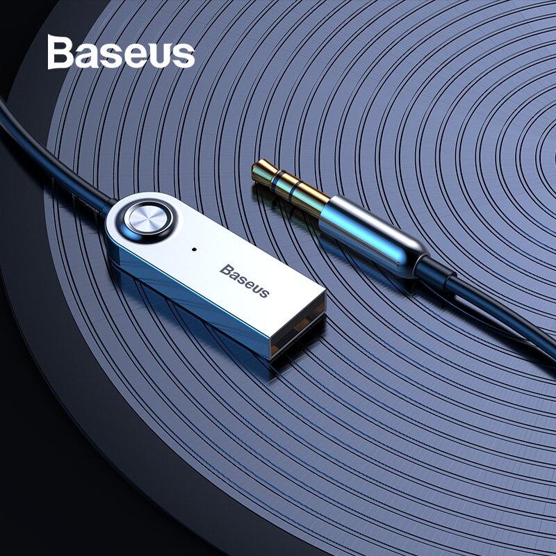 Baseus USB Cabo Adaptador para Carro Bluetooth Jack de 3.5mm Aux Bluetooth V5.0 4.2 4.0 Receptor Bluetooth Speaker Transmissor de Áudio