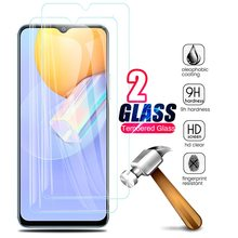 2 pçs capa completa óculos de proteção para vivo y31 2021 protetores de tela de vidro para viviy31 y 31 31y v2036 6.58 film smartphone filme smartphone