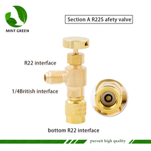Air conditioning safety valve R22/R410  plus liquid special valve refrigeration tool R22 plus fluoride safety valve цена и фото